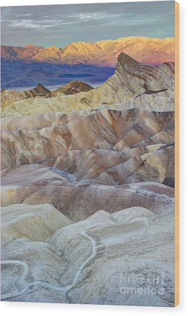 Sunrise In Death Valley Wood Print