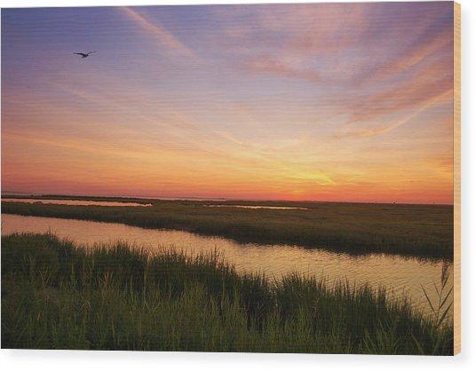 Sunrise In Jersey 4 Wood Print