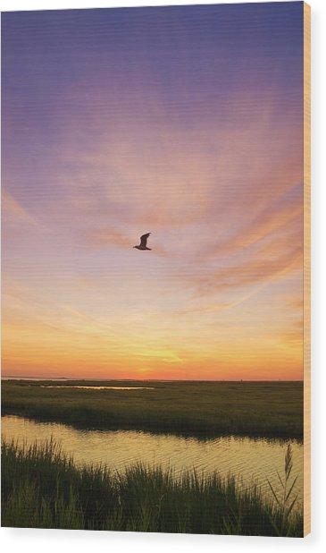 Sunrise In Jersey 5 Wood Print