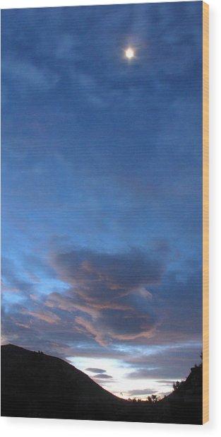 Sunrise In Joshua Tree Wood Print