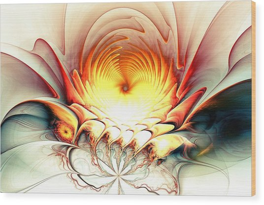 Wood Print featuring the digital art Sunrise In Neverland by Anastasiya Malakhova