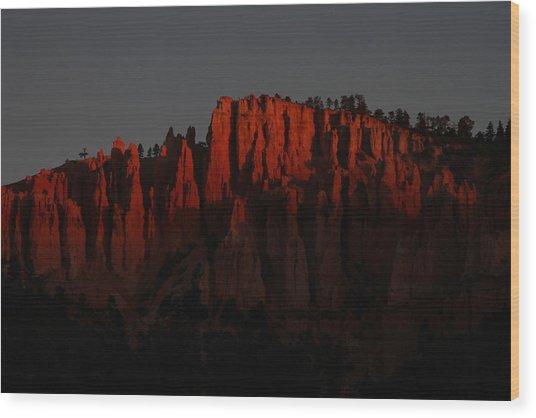Sunrise In The Desert Wood Print