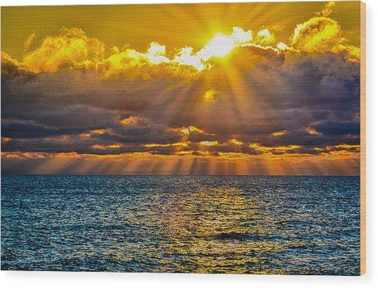 Sunrise Lake Michigan 9-29-13 Wood Print