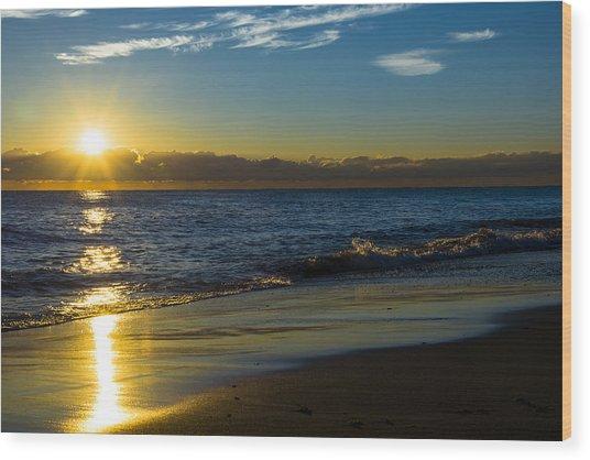 Sunrise Lake Michigan September 14 2013 01 Wood Print