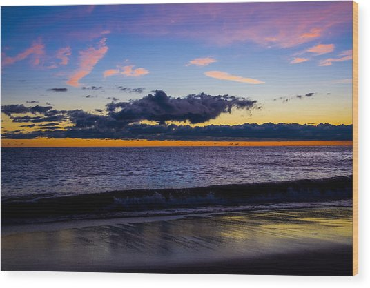 Sunrise Lake Michigan September 14th 2013 002 Wood Print