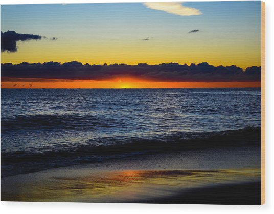 Sunrise Lake Michigan September 14th 2013 008 Wood Print