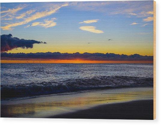 Sunrise Lake Michigan September 14th 2013 012 Wood Print