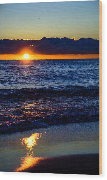 Sunrise Lake Michigan September 14th 2013 021 Wood Print