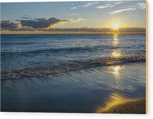 Sunrise Lake Michigan September 14th 2013 023 Wood Print