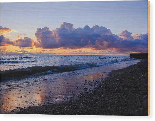 Sunrise Lake Michigan September 2nd 2013 001 Wood Print