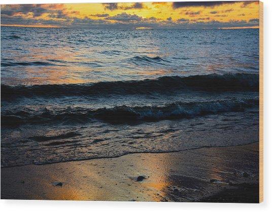 Sunrise Lake Michigan September 2nd 2013 003 Wood Print