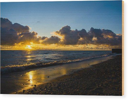 Sunrise Lake Michigan September 2nd 2013 004 Wood Print