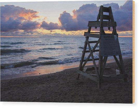 Sunrise Lake Michigan September 2nd 2013 005 Wood Print