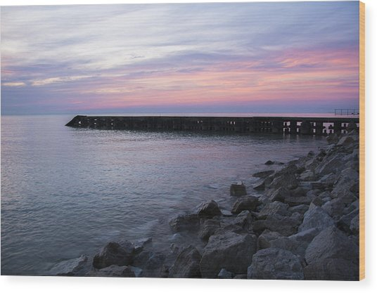 Sunrise Lake Michigan September 7th 2013 002 Wood Print