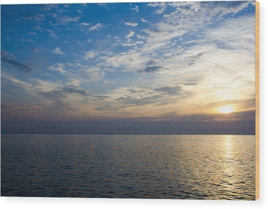 Sunrise Lake Michigan September 7th 2013 003 Wood Print