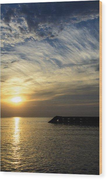 Sunrise Lake Michigan September 7th 2013 004 Wood Print