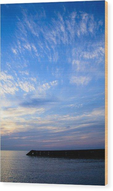 Sunrise Lake Michigan September 7th 2013 006 Wood Print