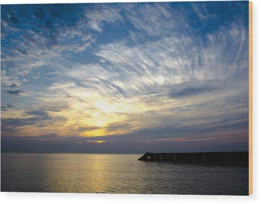 Sunrise Lake Michigan September 7th 2013 008 Wood Print