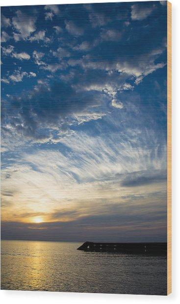 Sunrise Lake Michigan September 7th 2013 009 Wood Print