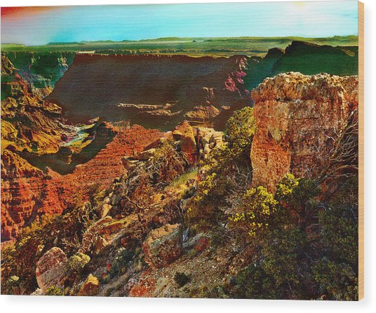 Sunrise Lipan Point Grand Canyon Wood Print