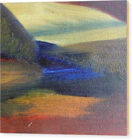 Sunrise  Wood Print by Michaela Kraemer
