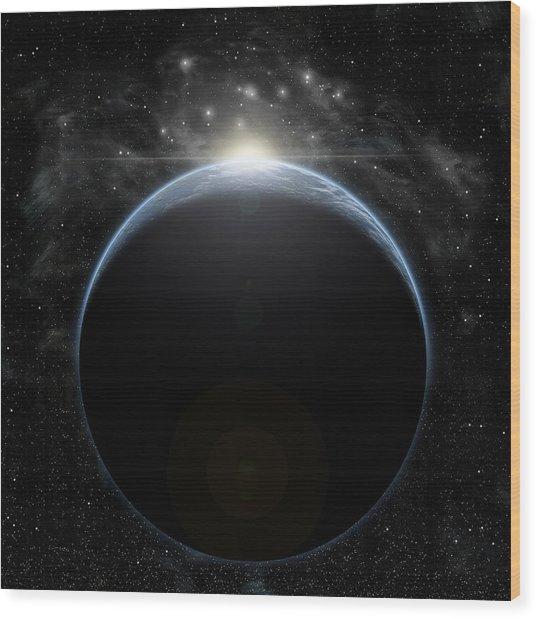 Sunrise Nebula Wood Print