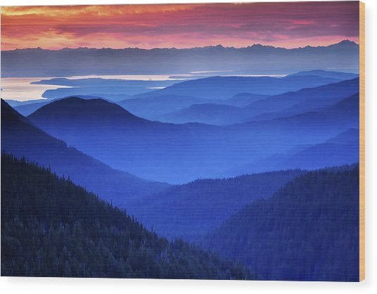 Hurricane Ridge Sunrise Wood Print