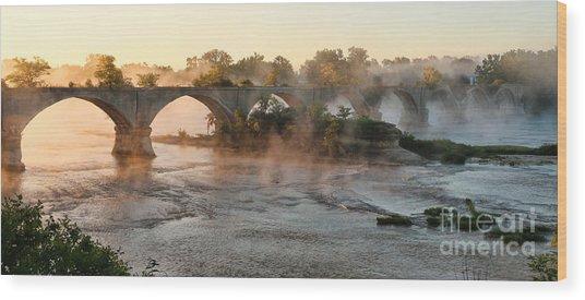 Sunrise On Interurban Bridge 0369 Wood Print