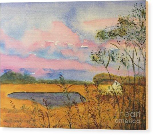 Sunrise On Patcong Creek Wood Print