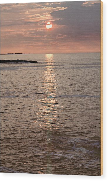 Sunrise Otter Cliffs Wood Print by Peter J Sucy