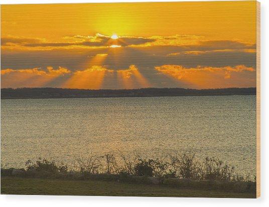 Sunrise Over Fairhaven Wood Print
