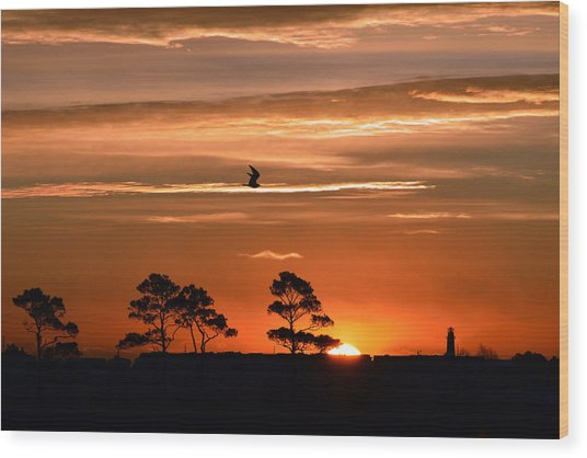 Sunrise Over Fenwick Island Wood Print