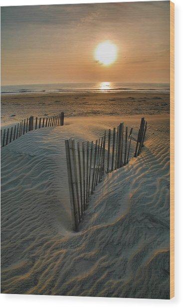 Sunrise Over Hatteras Wood Print