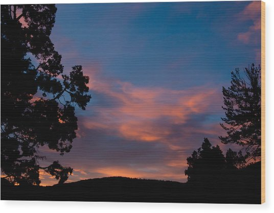 Sunrise Over Mammoth Campground Wood Print