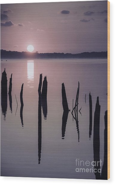 Sunrise Over Manasquan Reservoir Iv Wood Print