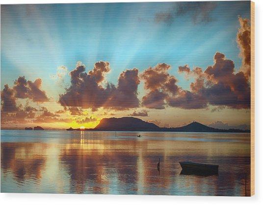 Sunrise Over Marine Corps Base Hawaii Wood Print