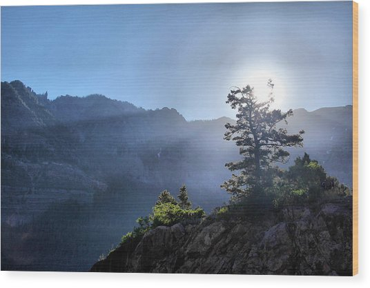 Sunrise Over Ouray Wood Print