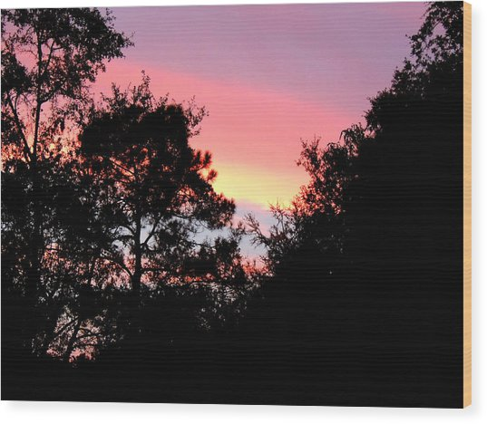 Sunrise Over Perry Wood Print
