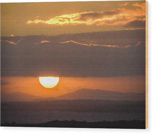 Sunrise Over River Shannon Wood Print