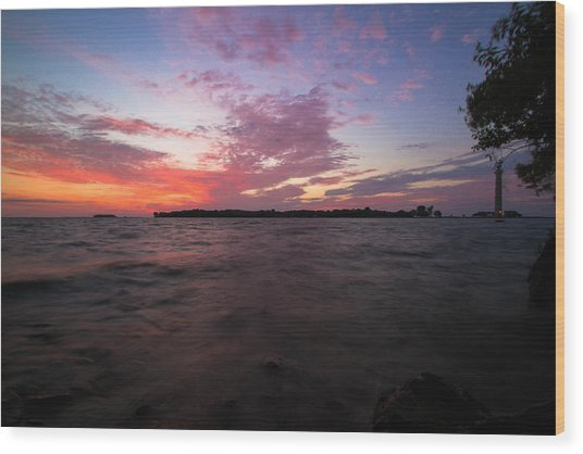 Sunrise Over South Bass Island Wood Print