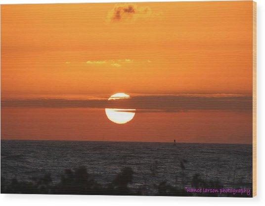 Sunrise Over The Atlantic Wood Print