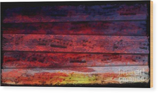 Sunrise Quintet Wood Print