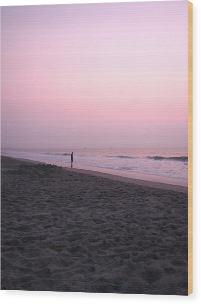 Sunrise Reflections Wood Print by Peggy Burley