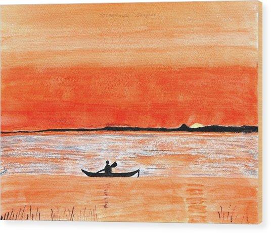 Sunrise Sail Wood Print