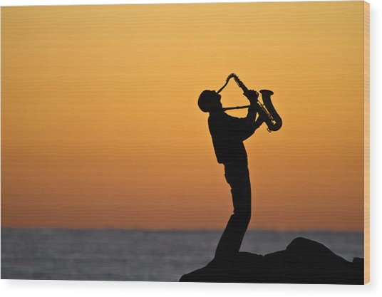 Sunrise Serenade Two Wood Print