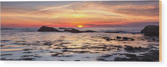 Sunrise Silhouettes Odiorne Point Wood Print