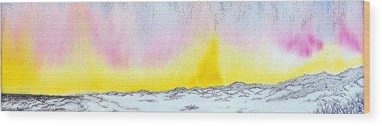 Sunrise-sunset Wood Print