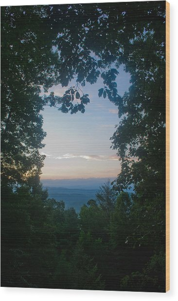 Sunrise Through The Trees Wood Print