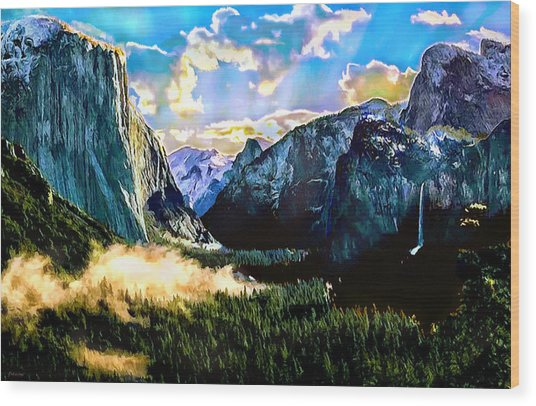 Sunrise Yosemite Valley Nationalpark Wood Print
