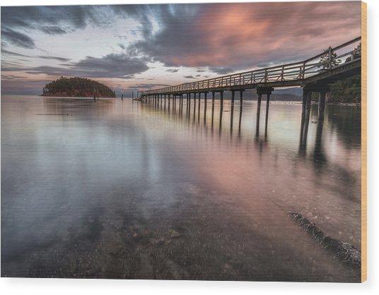 Sunset - Mayne Island Wood Print